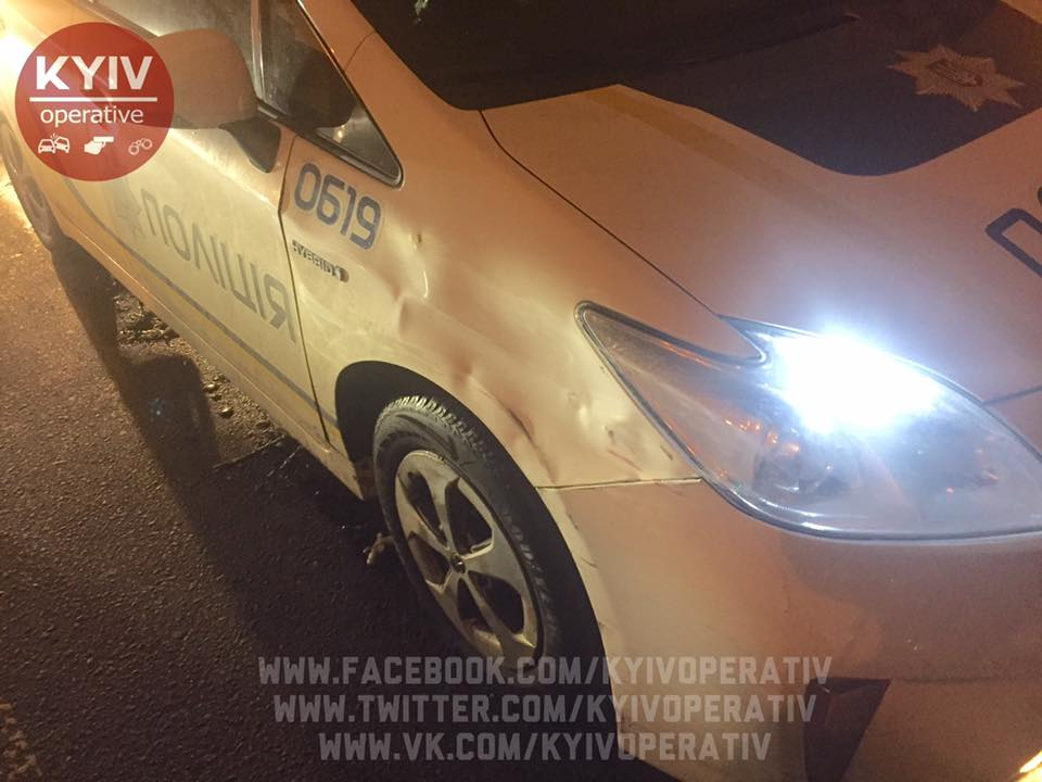 Милиция ночью гонялась за нетрезвым депутатом, который протаранил три машины